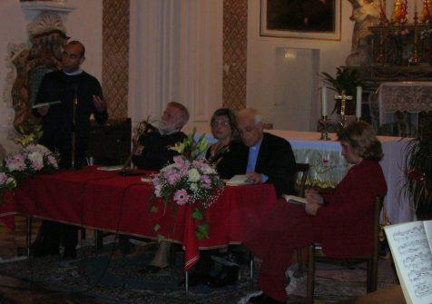presentazione di Finestre sull'anima a Sciacca, Giummare, 2008. Con D.Cosimo Scordato - D. Baldo Reina - D. Alfonso Turturici -