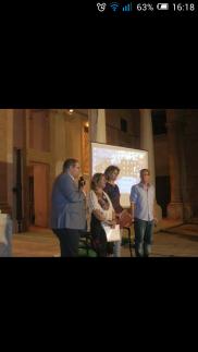 Presentazione poetica a Sciacca presso Atrio del Comune, con ass. alla cultura, Monte.
