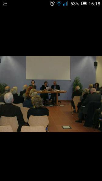 Presentazione a Torino di L'Amore, più forte della morte, con l'editore di Genesi, prof. Sandro Gros-Pietro